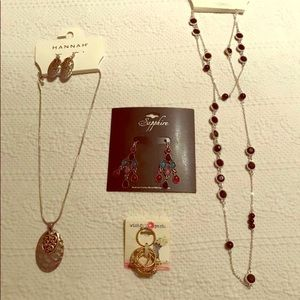 Lot of Necklaces, Earrings, Ring, BNWT